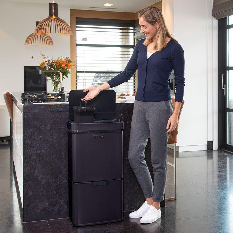 Homra Afvalscheiding Sensor Nexo 72 liter 3 vakken
